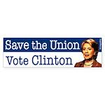 Save the Union Vote Clinton Sticker