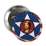 Patriotic Hillary Clinton Buttons (Ten Pack)