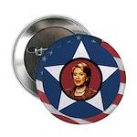 Hillary Clinton Patriotic Star 2.25