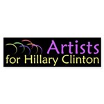 Artists for Hillary Clinton bumper sticker