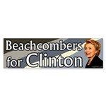 Beachcombers for Clinton bumper sticker