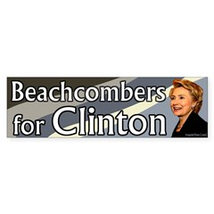 Beachcombers for Clinton bumper sticker