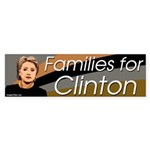 Families for Clinton bumper sticker