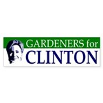 Gardeners for Clinton bumper sticker