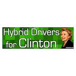 Hybrid Drivers for Clinton bumper sticker