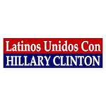 Latinos Unidos Con Hillary Clinton decal