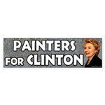 Painters for Clinton bumper sticker