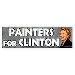Painters for Clinton bumper sticker