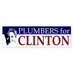 Plumbers for Clinton bumper sticker