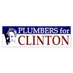 Plumbers for Clinton bumper sticker