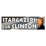 Stargazers for Clinton bumper sticker