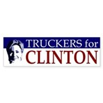 Truckers for Clinton bumper sticker