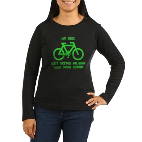 My Bike / Your Hybrid Women's Long Sleeve Dark T-S