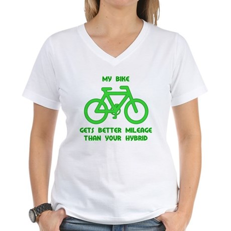 My Bike / Your Hybrid Women's V-Neck T-Shirt