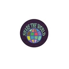Share the World Mini Button (10 pack)