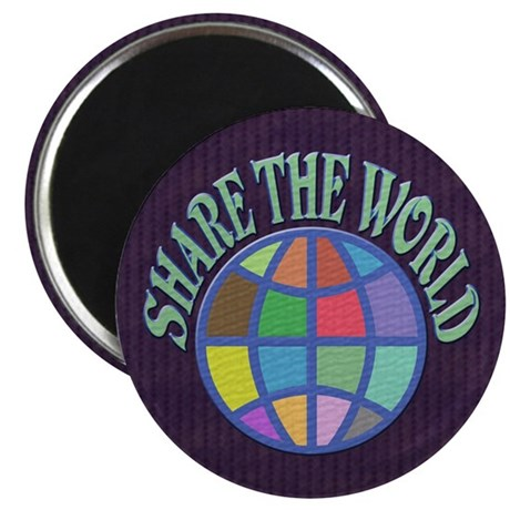"Share the World 2.25"" Magnet (100 pack)"