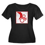 Machinery Women's Plus Size Scoop Neck Dark T-Shir