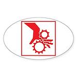 Machinery Oval Sticker (10 pk)