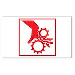 Machinery Rectangle Sticker