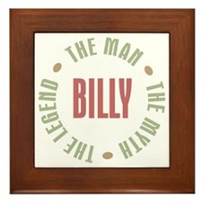 Billy Man Myth Legend Framed Tile