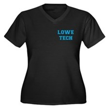 Lowe Tech Women's Plus Size V-Neck Dark T-Shirt