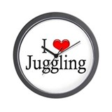 I Heart Juggling Wall Clock