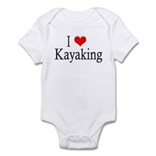 I Heart Kayaking Infant Creeper