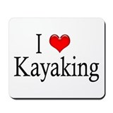 I Heart Kayaking Mousepad