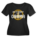 Actuary for Obama Women's Plus Size Scoop Neck Dar