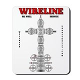 Wireline Oil Well Service Mousepad