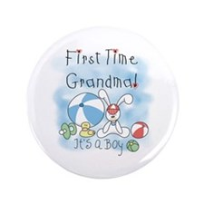 "Grandma Baby Boy 3.5"" Button (100 pack)"