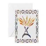 Menorah Aflame Greeting Cards (Pk of 10)