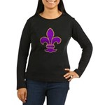 FLEUR DE LI Women's Long Sleeve Dark T-Shirt