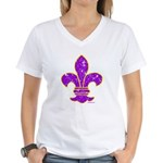 FLEUR DE LI Women's V-Neck T-Shirt