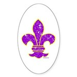 FLEUR DE LI Oval Sticker (10 pk)