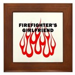 Firefighters Girlfriend Framed Tile