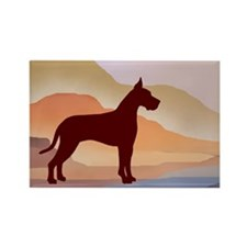 Mountain Mirage Great Dane Rectangle Magnet (10 pa