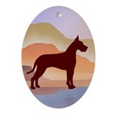 Mountain Mirage Great Dane Oval Ornament