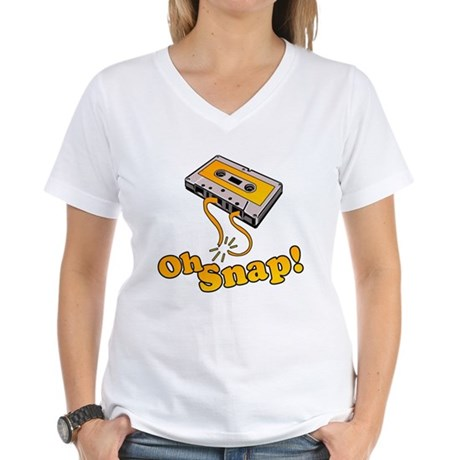 Oh Snap! Womens V-Neck T-Shirt