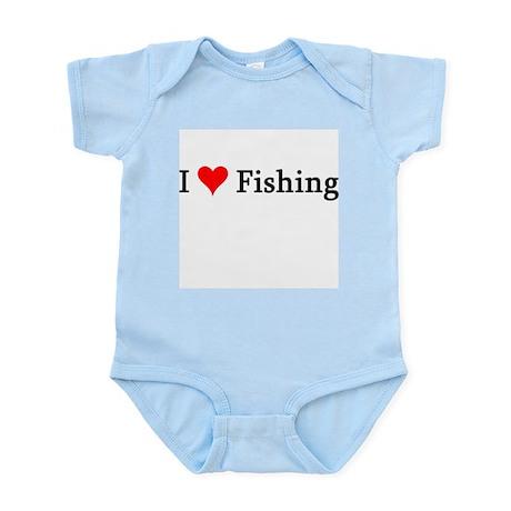 I Love Fishing Infant Creeper