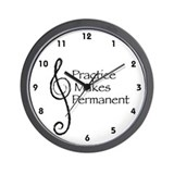 Practice Makes Permanent Wall Clock