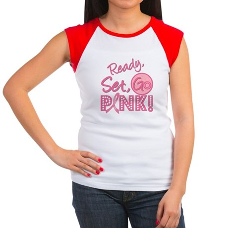 Ready, Set, GO PINK Women's Cap Sleeve T-Shirt