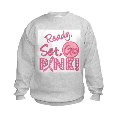 Ready, Set, GO PINK Kids Sweatshirt