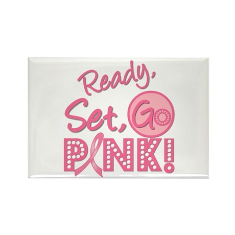 Ready, Set, GO PINK Rectangle Magnet (10 pack)