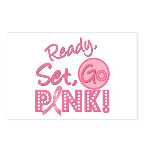 Ready, Set, GO PINK Postcards (Package of 8)