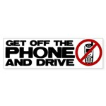 Get off the phone! Bumper Sticker (10 pk)