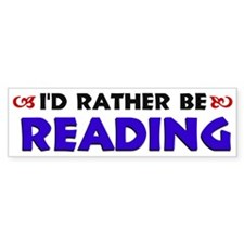 Blue I'd Rather Be Reading Bumper Bumper Sticker