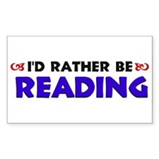 Blue I'd Rather Be Reading Decal