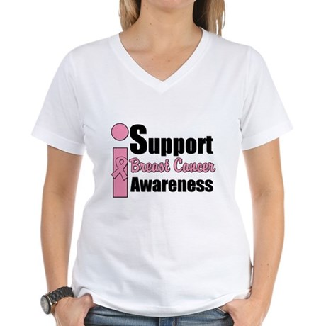 I Support BCA Women's V-Neck T-Shirt