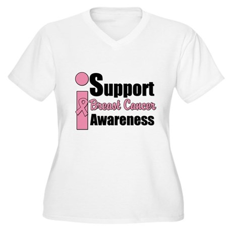 I Support BCA Women's Plus Size V-Neck T-Shirt